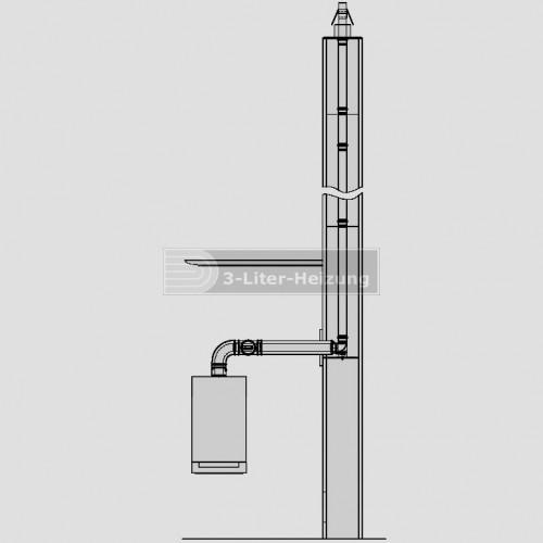 Viessmann Basispaket Schacht starr D80 Metall/PPs