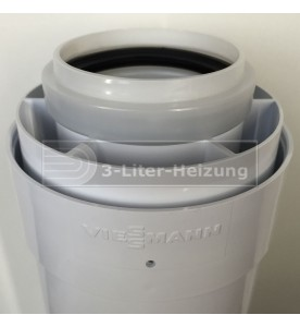 Viessmann 1,0 Meter AZ-Rohr 60/100